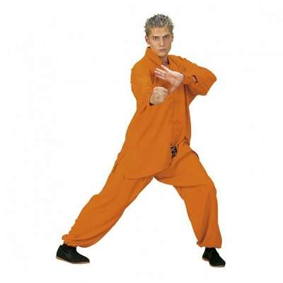 traje de tai chi naranja