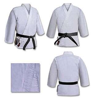 Traje de karate o aikido color blanco