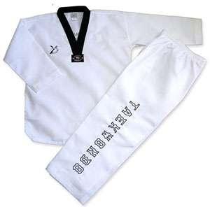 dobok taekwondo ribete negro