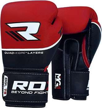 guantes de boxeo rdx rojo y negro