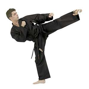 kimono artes marciales color negro