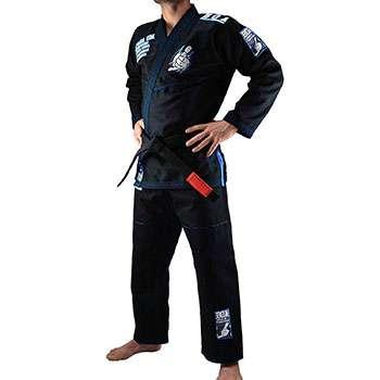 kimono boa color negro