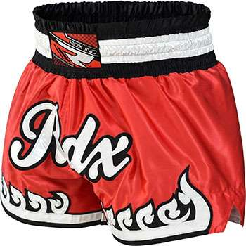 pantalones muay thai rdx rojos